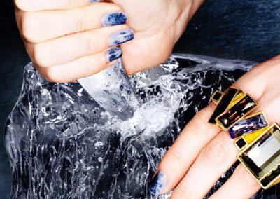 Bespoke Nail Artist - Blue Nails